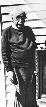 La última foto de Albert Einstein, tomada en marzo de 1955 en su casa de Princeton