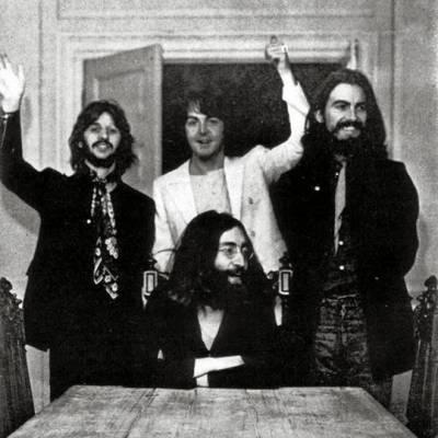 Los cuatro Beatles juntos