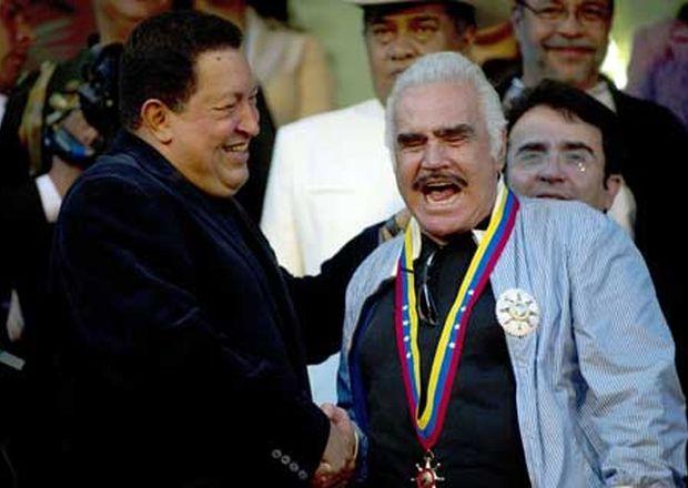 Hugo Chávez y Vicente-Fernandez