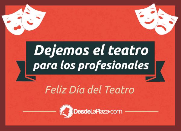 Portada Día Internacional del Teatro