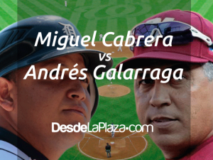 Miguel Cabrera y Andrés Galarraga