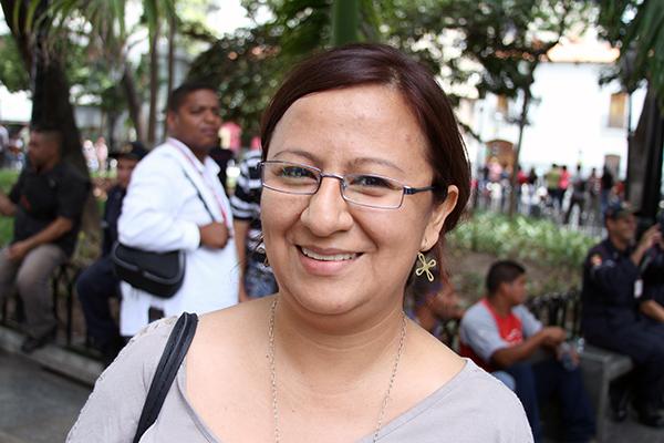 María Salas: Apoyo las medidas tomadas por el Presidente ya que son para proteger al pueblo venezolana y para poner orden a la situación irregular en la frontera. Foto: Daniel Tineo