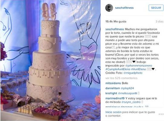 sasha torta de su  hija