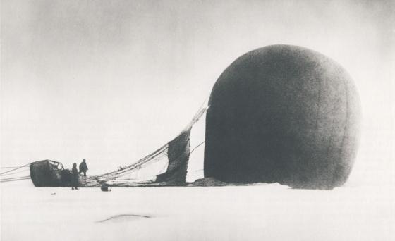 El vuelo de la expedición Andrée duro apenas diez horas. Biblioteca de Washington