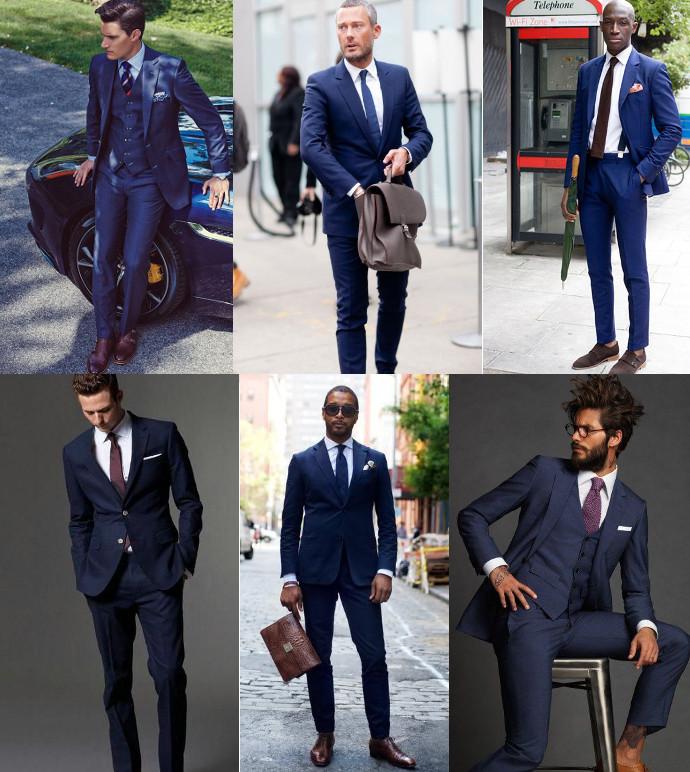 Básico traje azul marino