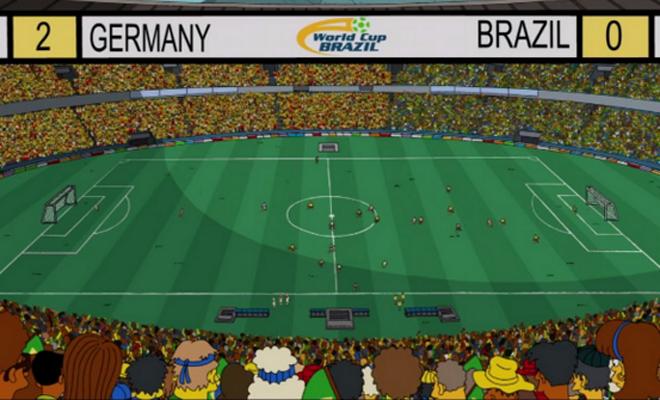 Los simpsons Alemania 2 brasil 0
