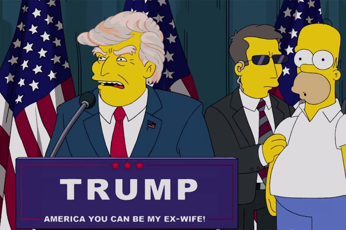 Los simpsons Donald Trump Presidente