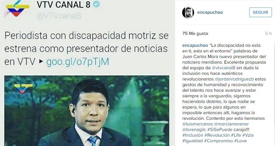Captura Instagram @encapuchao