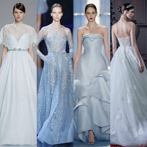 Azul bebé, tono que puso de moda el famoso diseñador, Oscar de La Renta en sus propuestas para vetidos de novias