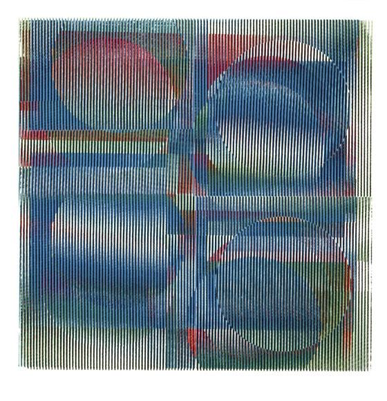 Couleur Additive. Recherche d'atelier Cruz Diez – París, Francia, 1963