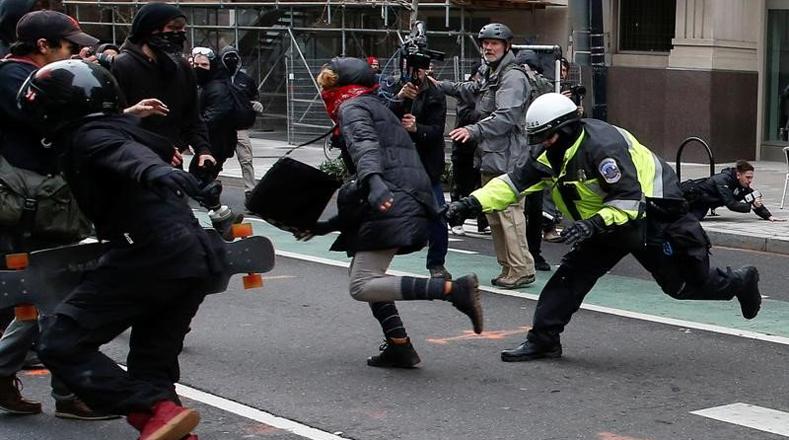 detenidos manifestar trump