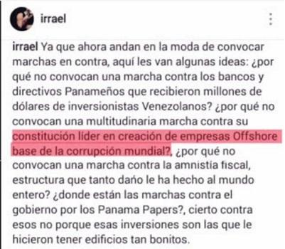 comentario Irrael