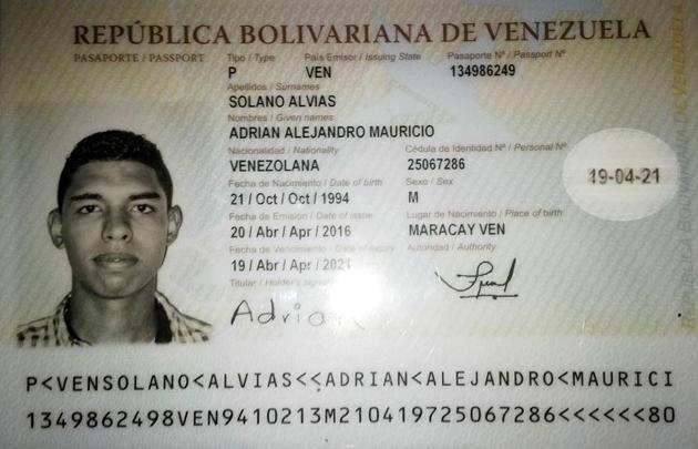 pasaporte del esquiador venezolano