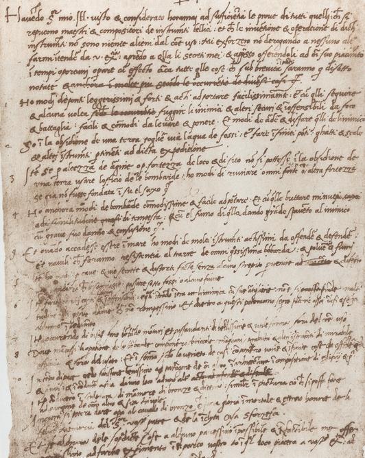Curriculum de Leonardo Da Vinci
