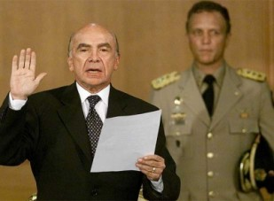 carmona jura como presidente