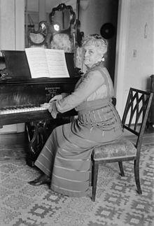 Teresa Carreño en el piano