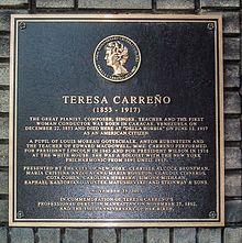 placa Teresa Carreño