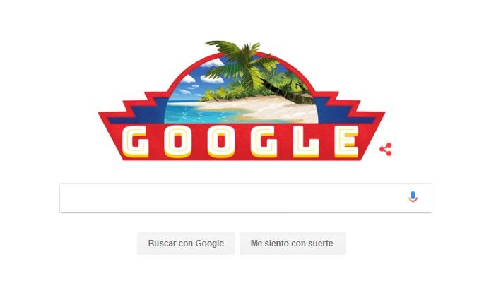 Doodle del dia de la independencia de Venezuela