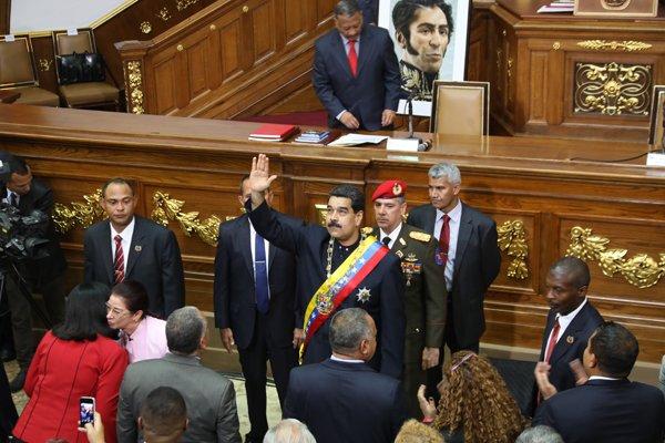 Nicolas Maduro en la ANC