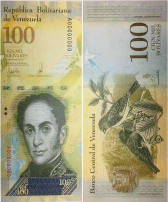 billete de 100 mil bs