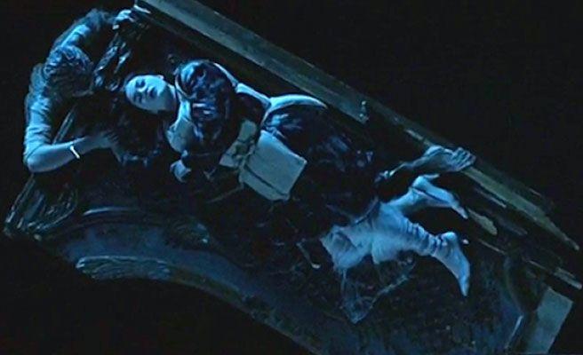 Jack y Rose en la tabala Titanic