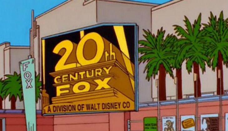 Foto de los Simpsons compra de fox por Disney