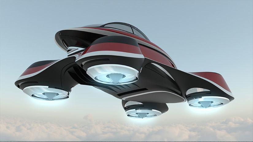 vehículo con 4 turbinas