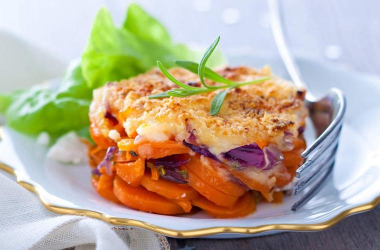 Zanahorias al gratin