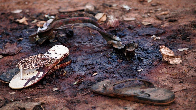 Restos de objetos en atentado a mercado en Nigeria