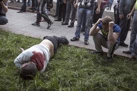Cadaver afueras centro de votación