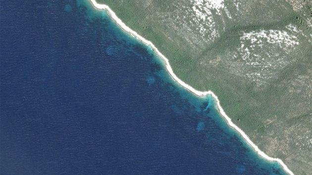 Vista aérea circulos costas Croatas