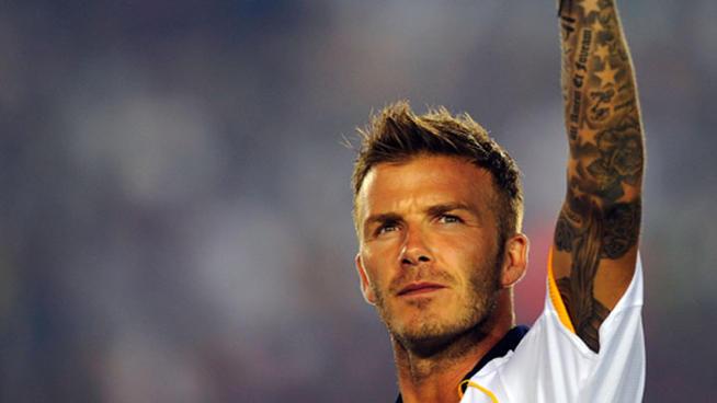 David Beckham saluda desde el campo