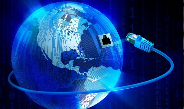 Globo terraqueo conectado a internet