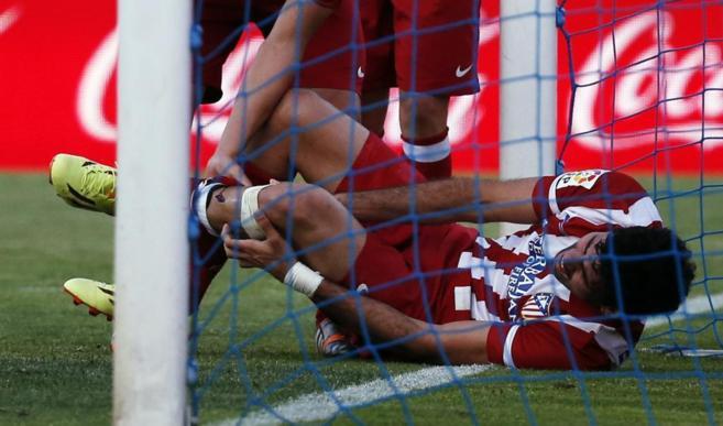 Diego Costa momento lesión en la cancha