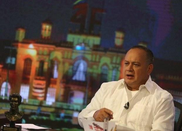 """Diosdado Cabello en el set de """"Con el Mazo Dando"""""""