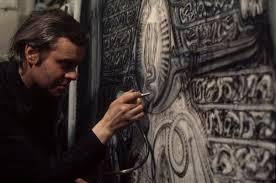 Hans Ruedi Giger creando en su taller
