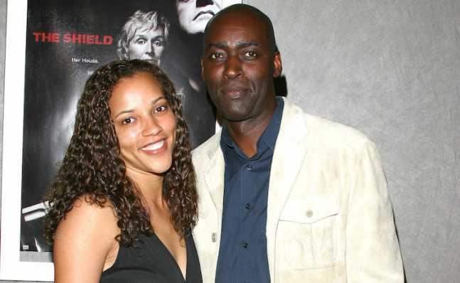 Michael Jace con su esposa
