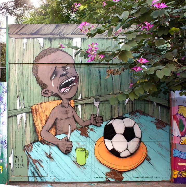 Mural de Sao Paulo, convertido en un viral del mundial