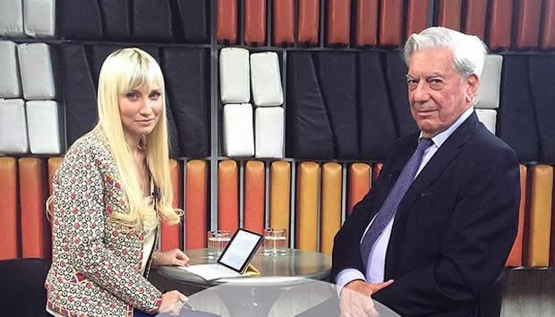 Shirley Varnagy entrevista a escritor Vargas Llosa