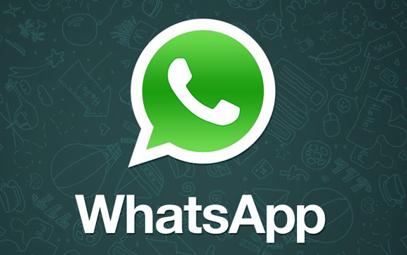 Logo whatsapp en pantalla de smart view