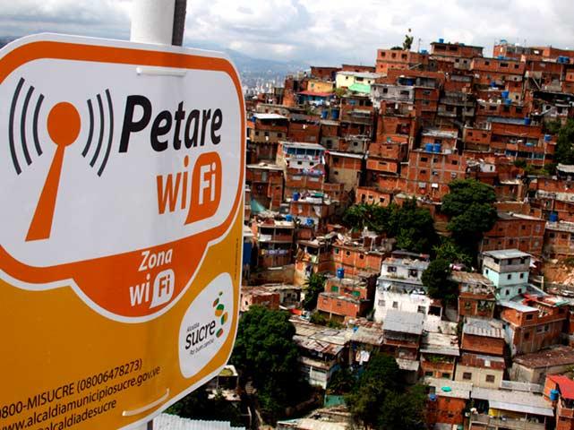 Anuncio zona wifi barrio de Caracas