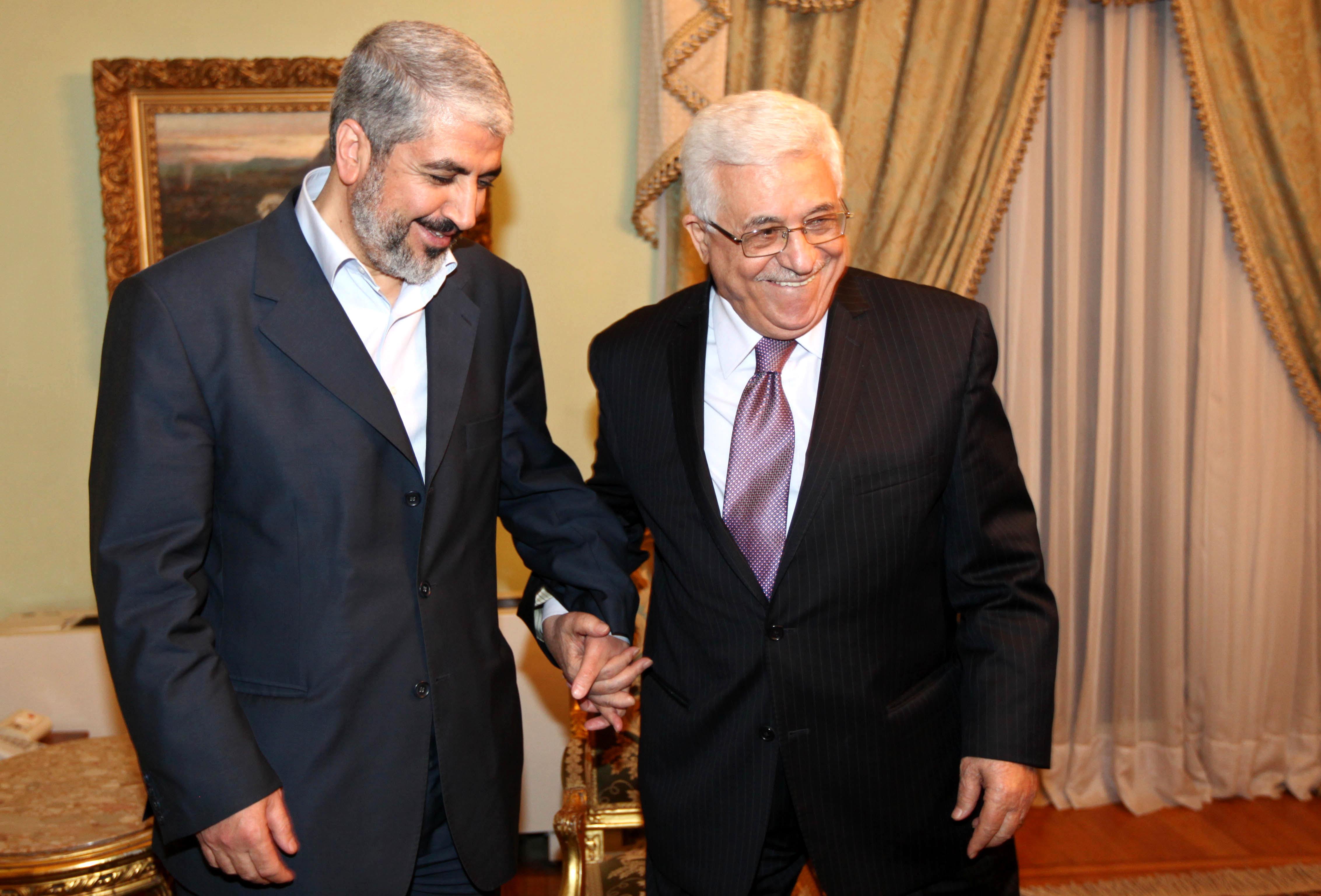 Jaled Meshal y Mahmud Abbás