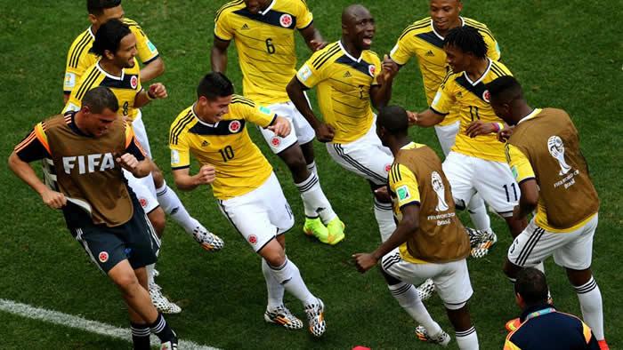 Mundial: Los colombianos bailando