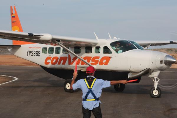 vuelo a Canaima con aviones Caravan