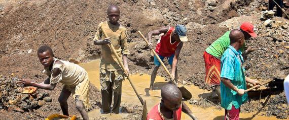 Niños: Trabajadores de minas africanas