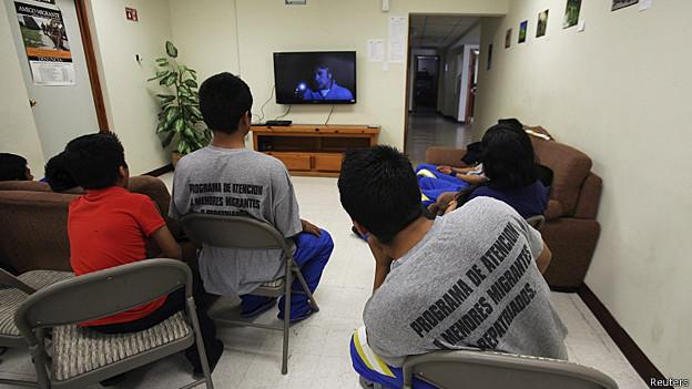 Crisis frontera EU-Mexico: Niños en el refugio