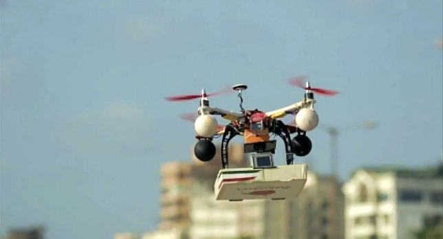 Drones: las pizzas enviadas por esta via