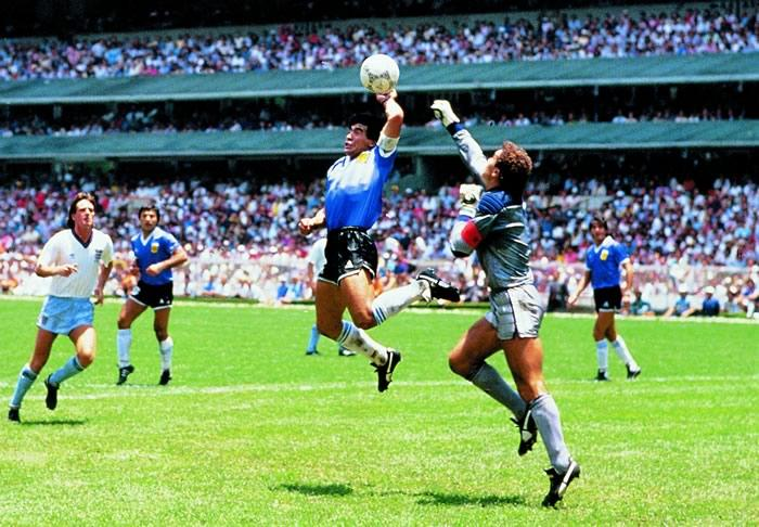 """28 años del histórico gol """"la mano de Dios"""""""