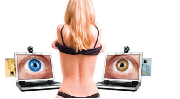 Los hombres que observan pornografía