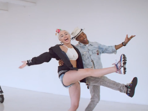 Pharrel Williams y Miley Cyrus
